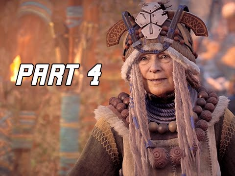 Horizon Zero Dawn Walkthrough Part 4 - Mother's Heart (PS4 Pro Let's Play Commentary)