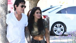 Motley Crue Founder Tommy Lee And Brittany Furlan In Calabasas