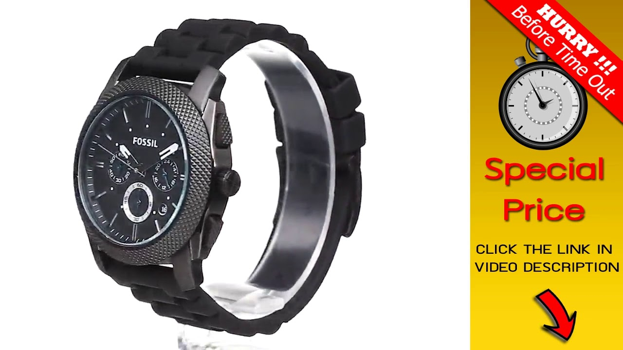 f1b59b639a6cd BIG DEAL   Fossil Men s FS4487 Machine Quartz Stainless Steel and Silicone  Chronograph Watch