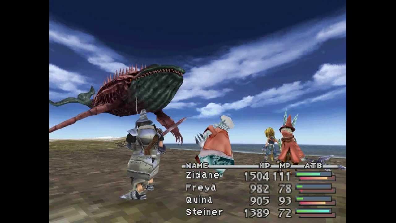 Final Fantasy Ix Battle Whale Zombie Youtube