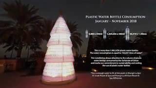 Shangri-La Barr Al Jissah Resort & Spa Plastic Bottle Festive Tree