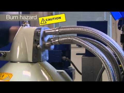 Instructions for opening the Alfa Laval S and P separators