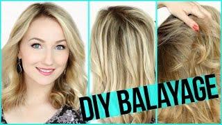 DIY BALAYAGE SELBER färben auf BLONDEM Haar - Das Experiment