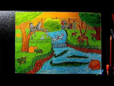 Menggambar Kebun Binatang Risbi