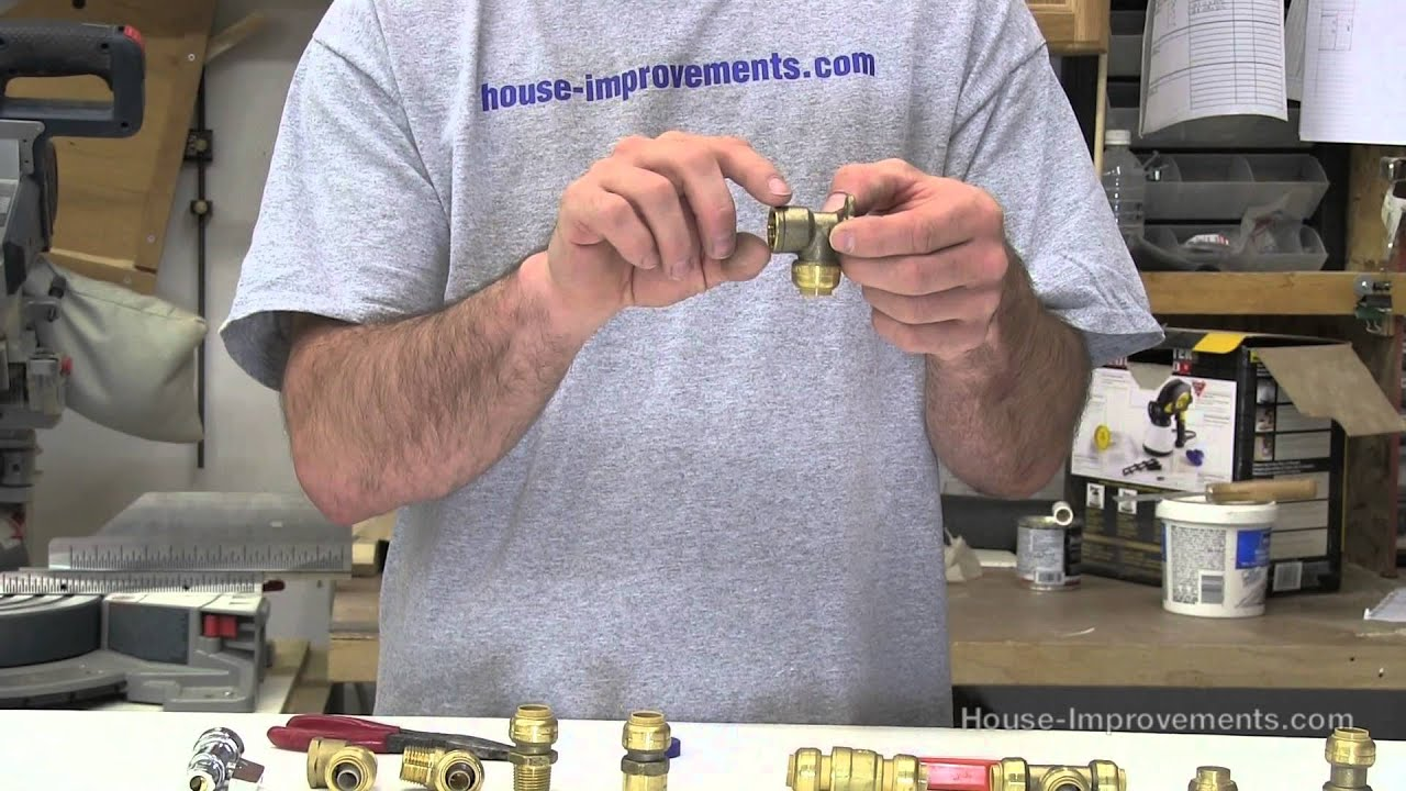 How To Use Push Fit Plumbing Fittings Youtube