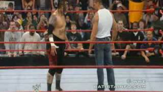 Batista and Umaga confrontation
