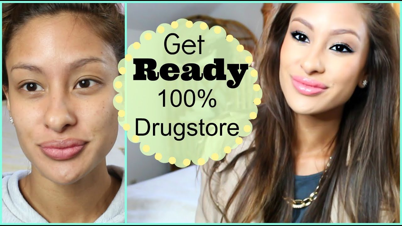 Get Ready with Me: 100% Drugstore Makeup- Neutral Colors - YouTube
