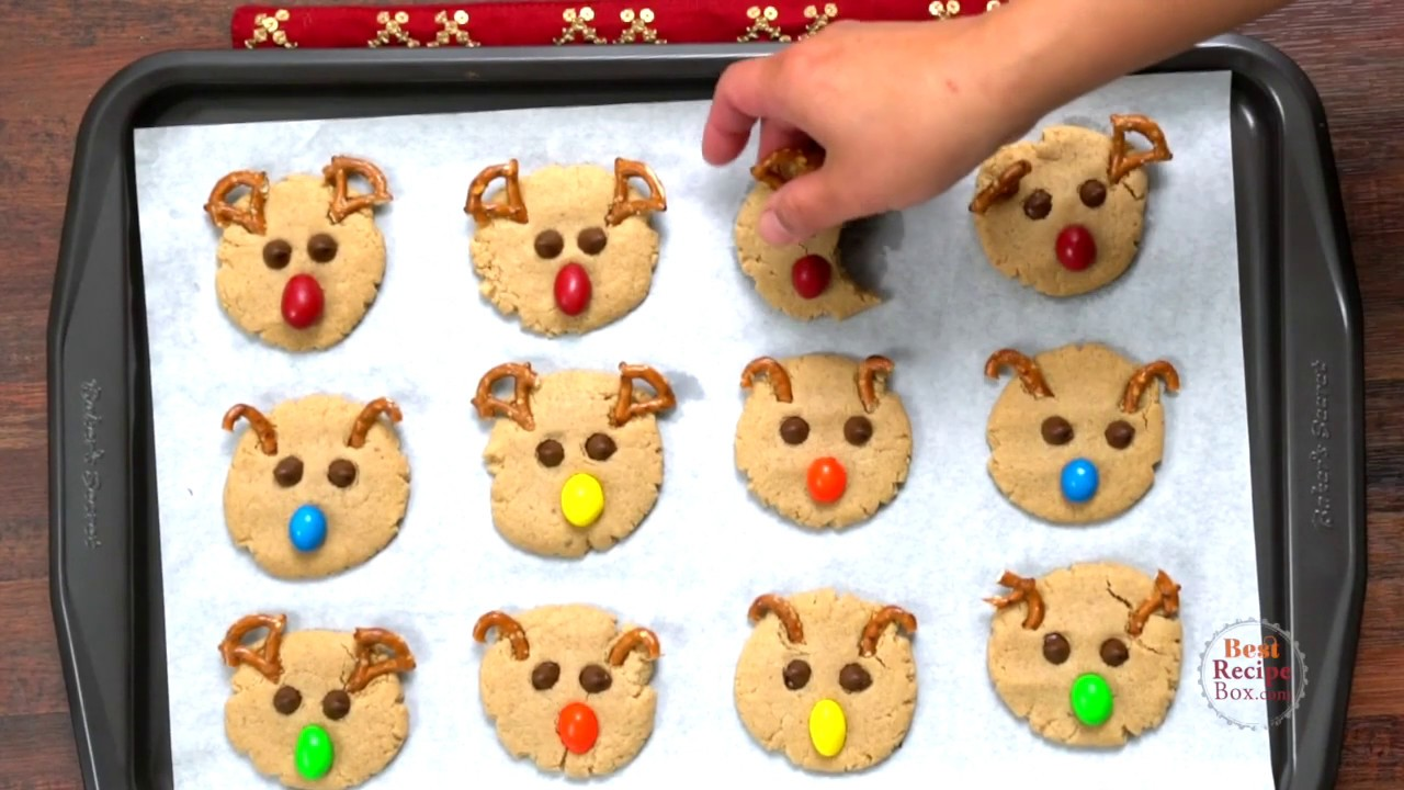 Peanut Butter Reindeer Cookies Whose Nose You Following On Christmas Night