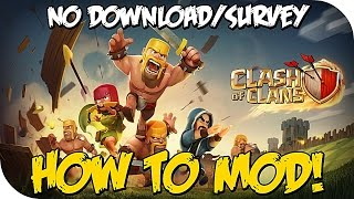 "How To Mod ""Clash Of Clans"" Unlimited Gems & Loot (Mod COC May 2015)"