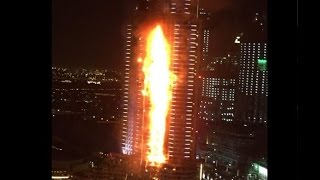 Fire in Dubai 2016