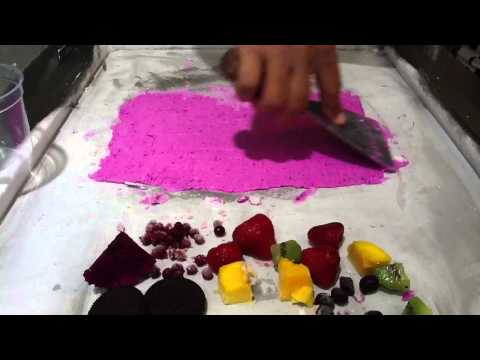 Frozen yogurt mix fruit