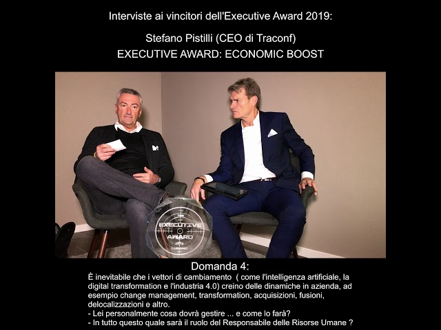 Stefano Pistilli (CEO di Traconf) - EXECUTIVE AWARD: ECONOMIC BOOST