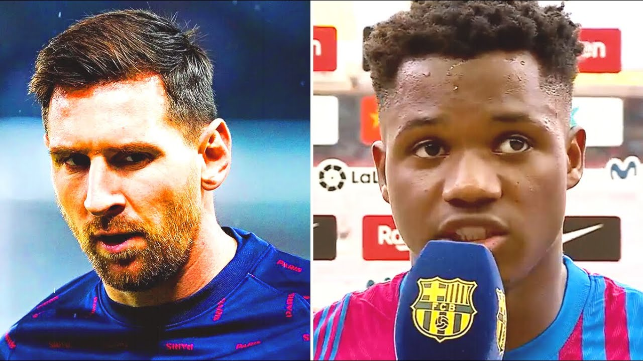 FATI IMPRESSED WITH HIS STATEMENT ABOUT MESSI and his 10th number in Barcelona! Ansu to surpass Leo?