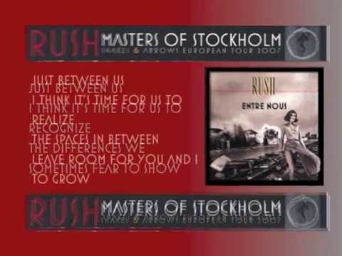"RUSH ""Masters of Stockholm"" 2007 Lyrics [Disc1]"