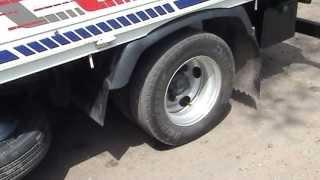 Доработка брызговиков на грузовике. Finalization of mudguards on the truck.