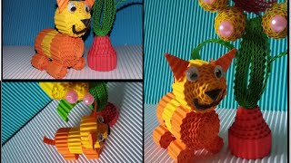 Download Video DIY cat from corrugated paper / kokoru paper (easy and simple) MP3 3GP MP4