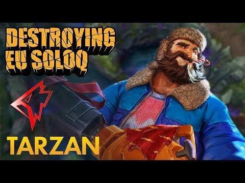 Destroying EU SoloQ: Griffin Tarzan - Graves Jungle - KDA 19/4/8