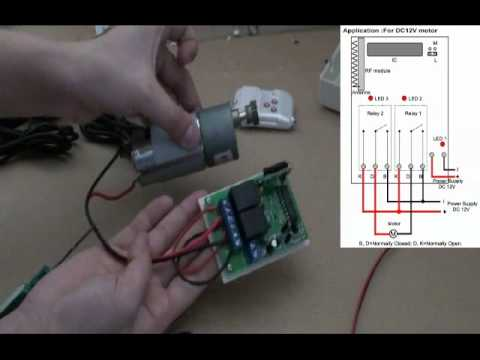 Reverse Dc Motor By 2 Channel Simple Rf Remote Control