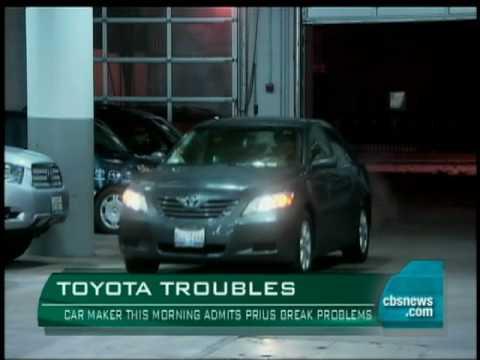 toyota admits prius brake problem youtube rh youtube com