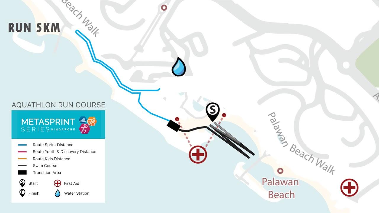 MetaSprint Aquathlon Sprint Distance Course Map YouTube - Map how far i ran