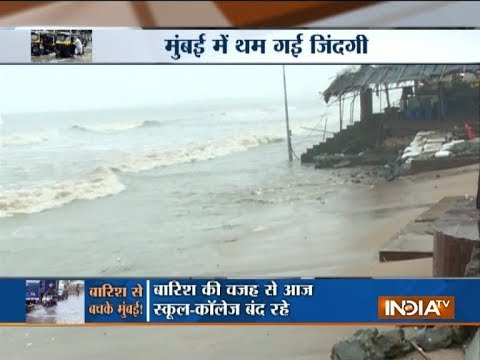 Mumbai Rains : Heavy rains lash Mumbai, schools shut, flights delayed