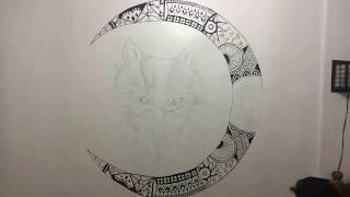Mandala Wall Art - Alpha Wolf