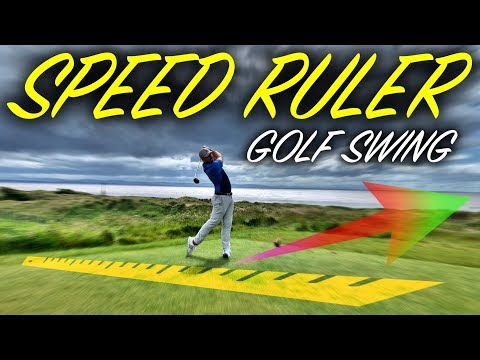 The SPEED RULER Golf Swing