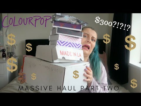 😱 I SPENT $300 ON COLOURPOP!? | Massive Haul Part Two 😱