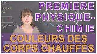 Couleurs des corps chauffés - Physique-Chimie - 1ère S - Les Bons Profs