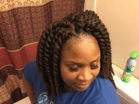 Crochet Hair Tutorial For Beginners : How to Crochet Braids Pre Twisted Hair Tutorial Doovi
