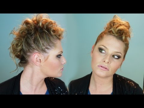 Curly Faux Hawk Tutorial!
