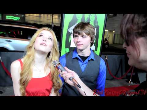 Katherine McNamara & Joel Courtney  at the #VampireAcademy Premiere  @Kat_McNamara @Joel_Courtney