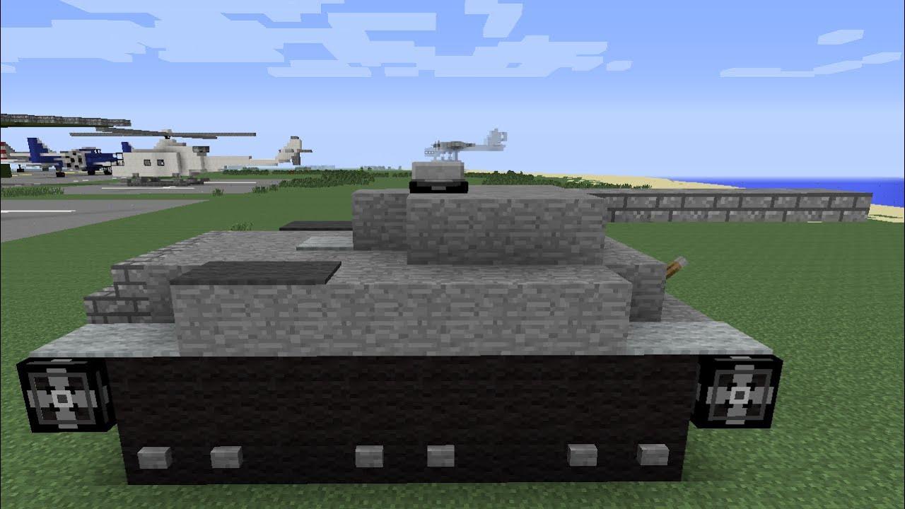 Minecraft Tutorial Porsche Tiger Tank Youtube