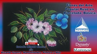 Flores de Zhostovo en Pincelada Básica Con Miguel Rincón.
