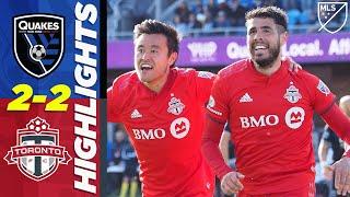 San Jose Earthquakes vs. Toronto FC | Incredible Free Kick Goal! | MLS HIGHLIGHTS