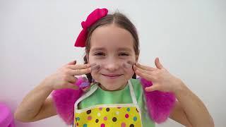 صوفيا تطبخ الفطور لأب المعكرونة السوداء