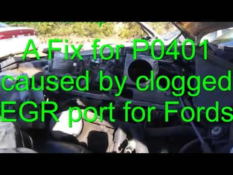 How To Fix a P0401 Due To Clogged EGR Ports On a Ford