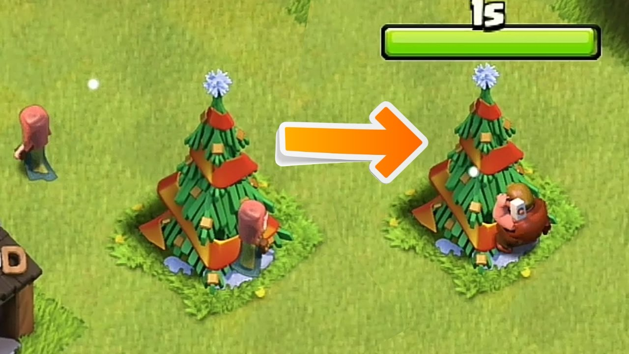 Clash Of Clans Removing The Christmas Tree 2016 Youtube