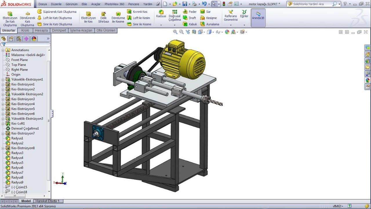Solidworks montaj hareket sınırlama
