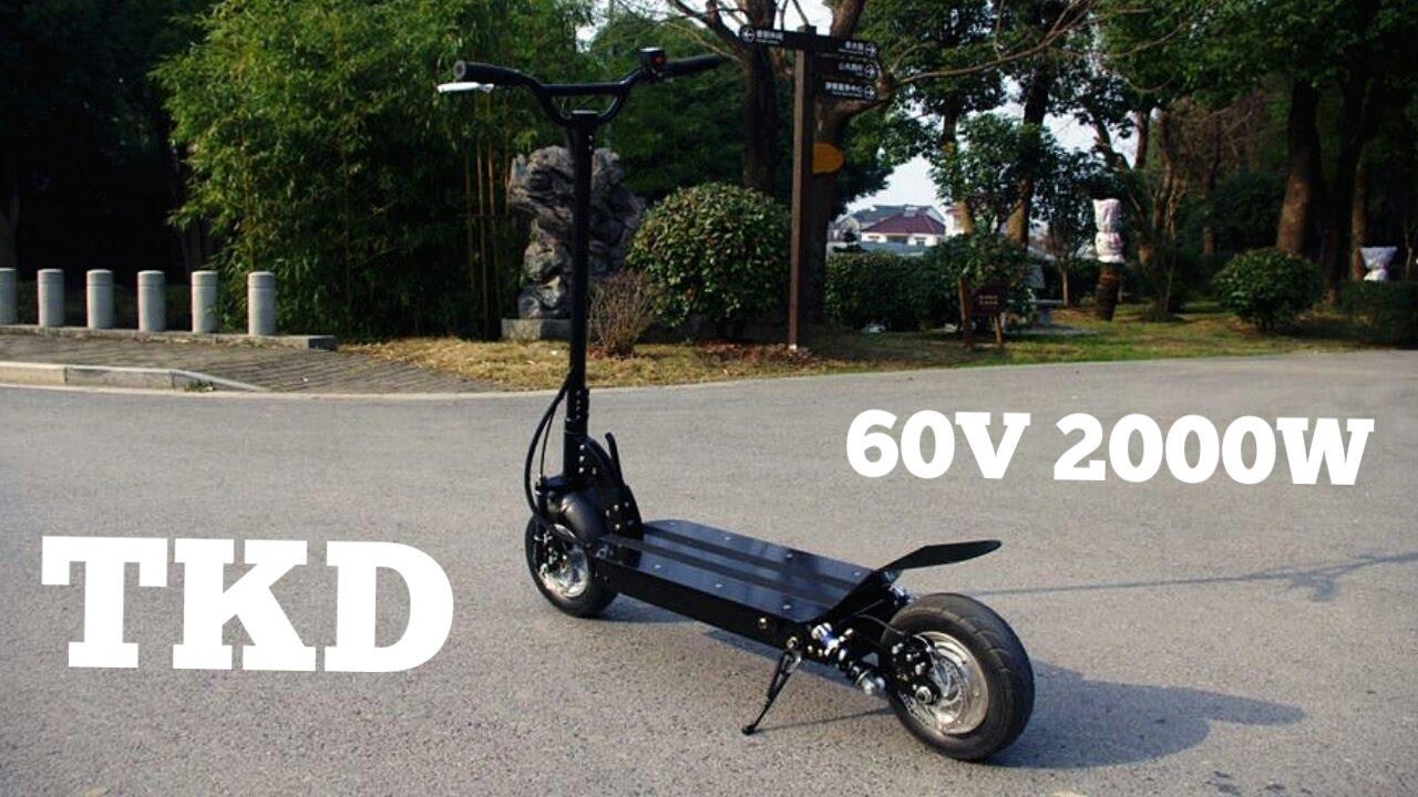 tkd electric scooter 2000w 60v youtube. Black Bedroom Furniture Sets. Home Design Ideas