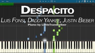 Luis Fonsi, Daddy Yankee - Despacito (Piano Cover) ft. Justin Bieber by LittleTranscriber