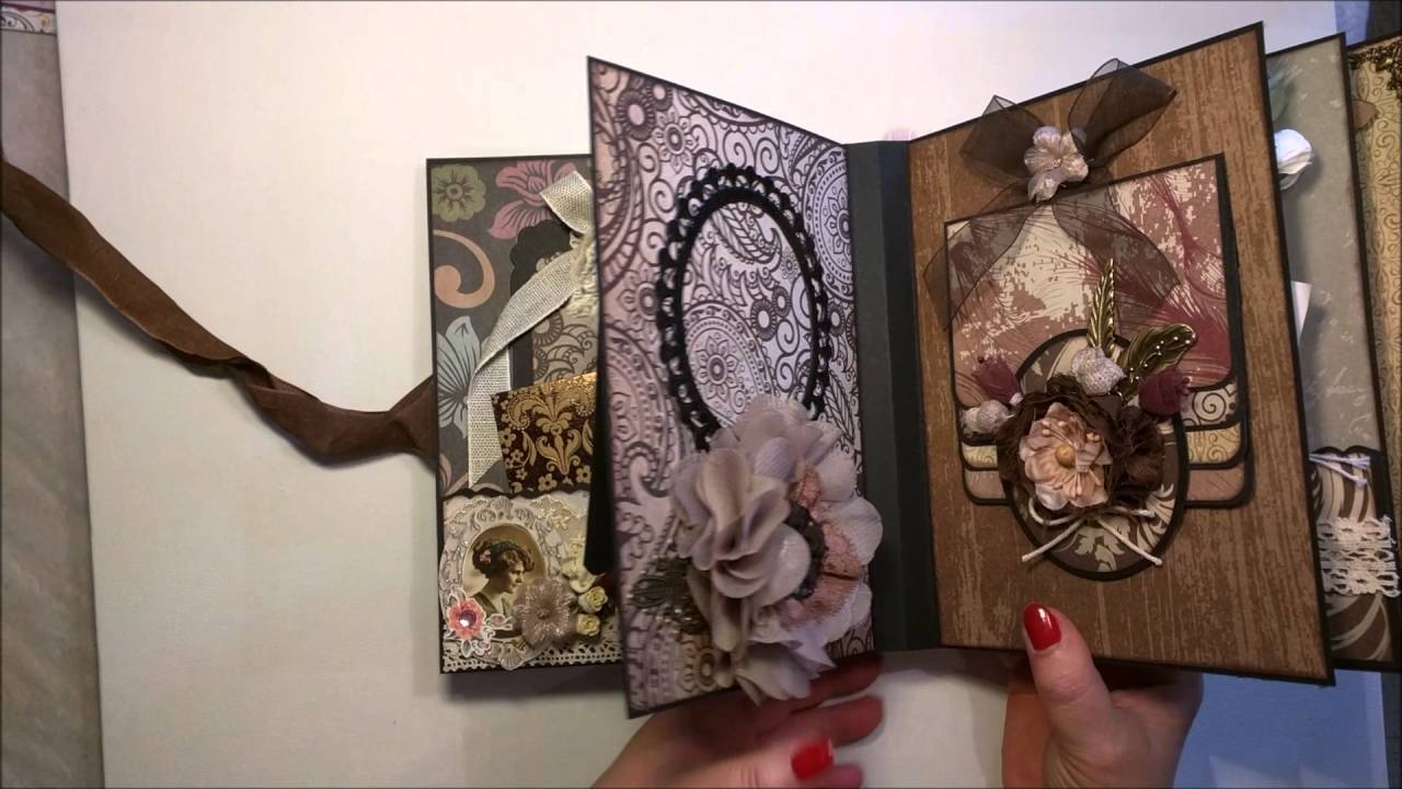 mini album shabby chic vintage youtube