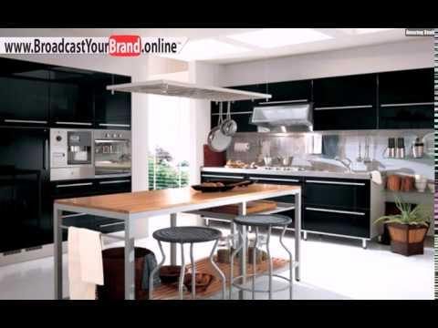 Schwarze Küche Gestalten Dunkle Schränke Metall Türgriffe