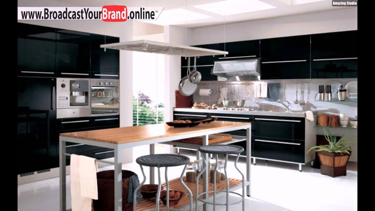 Schwarze Küche Gestalten Dunkle Schränke Metall Türgriffe - YouTube