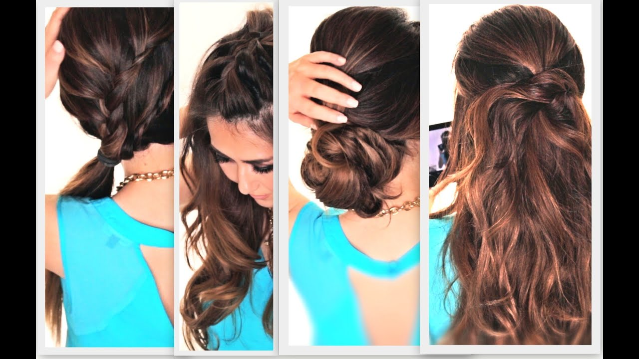 Hair Styles Easy 6 Easy Lazy Hairstyles  Cute Everyday Hairstyle  Youtube