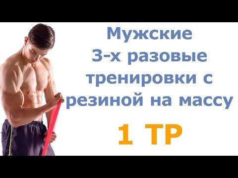 Мужские 3-х разовые тренировки с резиной на массу (1 тр)