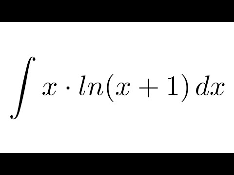 Integral of x*ln(x+1) (by parts)