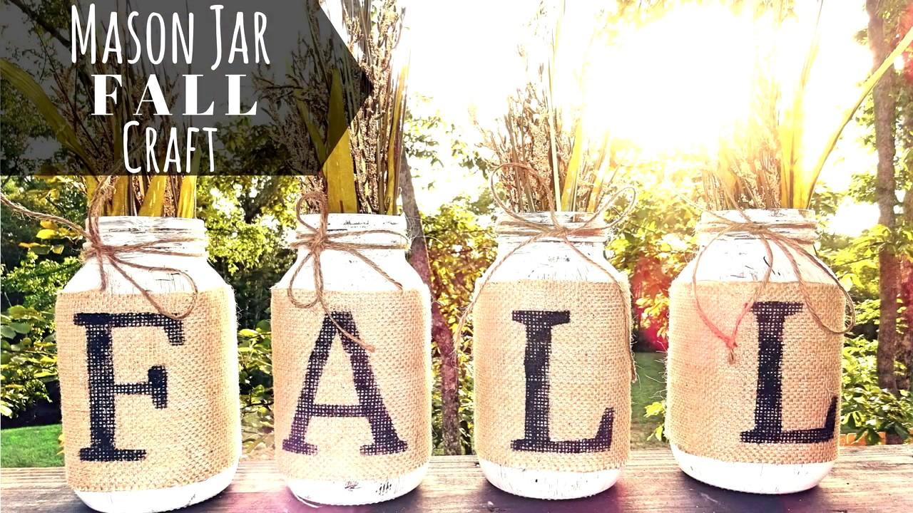 Maddie Tae Easy Fall Craft W Mason Jars Youtube