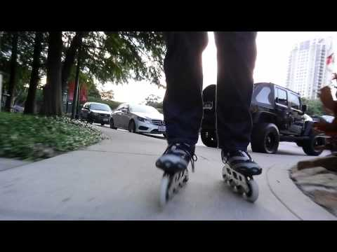 #47 Skating from Memorial Park to Post Oak Boulevard.