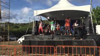 Exodus HD saying Hello at Machel Montano concert in Sandy Ground